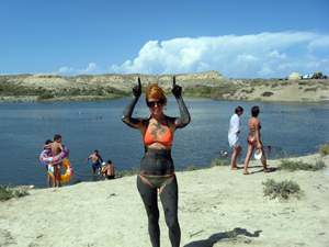 Соленое озеро Кыргызстана