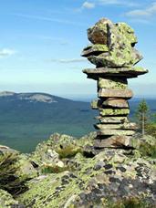 Каменные метки в Таганае.