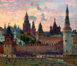 Московский Кремль.Копия картины В.М. Васнецова