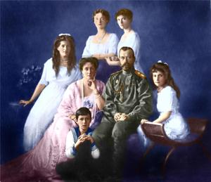 Семья императора Николая II Романова.
