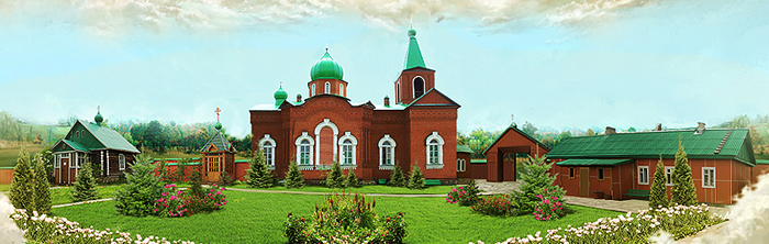 Тарасково. Свято-Троицкий Все царицынский монастырь > К Чудотворной иконе, целебный источник
